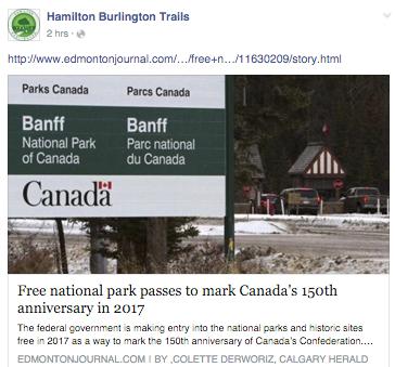 Free National Park Passes - 2017